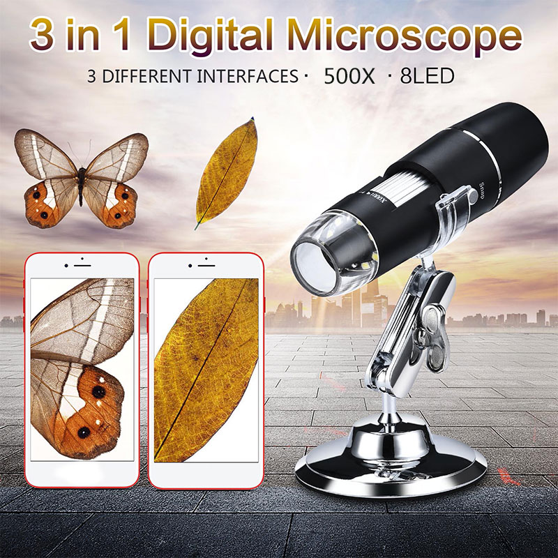 Practical Endoscope Photos Ear Cleaning Tool Waterproof ABS 0.3 Mp 500X Inspection Mobile Phones Digital Microscope