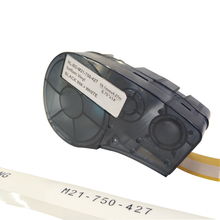 NEW!!! M21-750-427 Label Tape  Black On White Translucent Vinyl Compatible for Brady BMP21 Plus ID Pal and LABPAL Printers