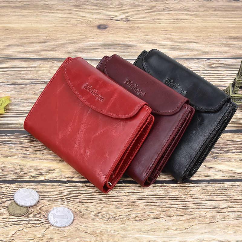 DICIHAYA جلد طبيعي المرأة المحفظة محفظة نسائية للعملات المعدنية للفتيات الإناث الصغيرة Portomonee سيدة محفظة المال حقيبة حامل بطاقة مخلب صغير