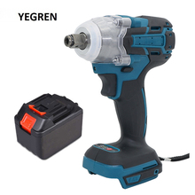Handle Electric Wrench Rechargeable Impact Driver Build-in LED Light Cordless Screwdriver Tire Replacement Power Tool