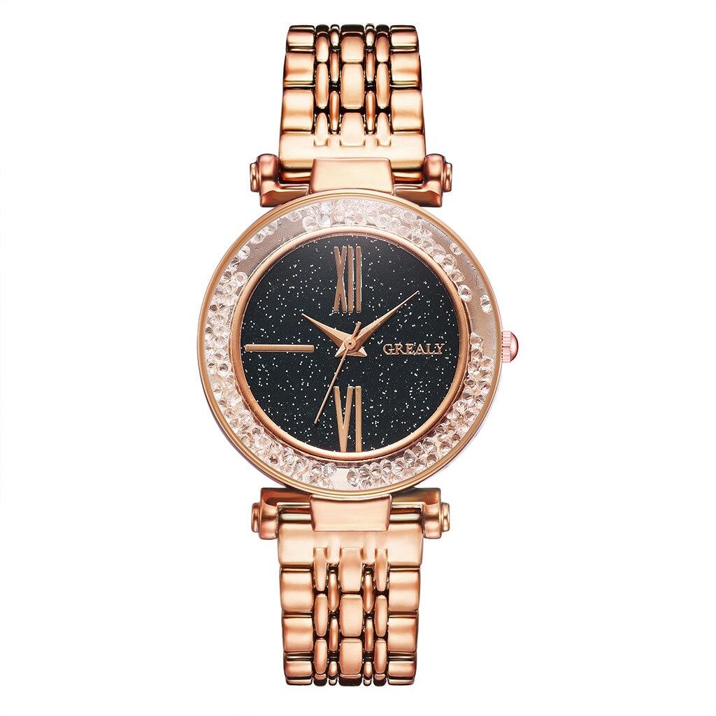 Women Watches  Starry Sky Scale Dial Ladies Quartz Wristwatch Romantic Alloy Strap Clock Relojes Para Mujer Bracelet Watch 533