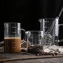 High Borosilicate Glass Measuring Cup Transparent Milk Cups With Scale High Temperature Resistant Clear Cup Kitchen Accesssories 250ml375ml475mldouble glass high borosilicate transparent creative cup tropical resistant coffee cups custom made logo cups