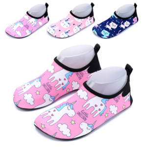 Kids Water Shoes Baby Child Quick-Dry Non-Slip Toddler boy girl Cute Cartoon Unicorn Barefoot Aqua Socks For Beach Pool Swim