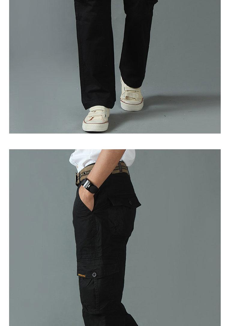 KSTUN New Men's Cargo Pants Casual Overalls 100% Cotton Straight Cut Male City Military Tactical Pants Men Loose Fit Trousers No Belt 21