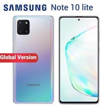Перейти на Алиэкспресс и купить Смартфон Samsung Galaxy Note 10 Lite N770F/DS, глобальная версия, 8 Гб 128 ГБ, мобильный телефон, 6,7 дюйма, Exynos 9810, фронтальная камера 32 МП, две SIM-карты, NFC