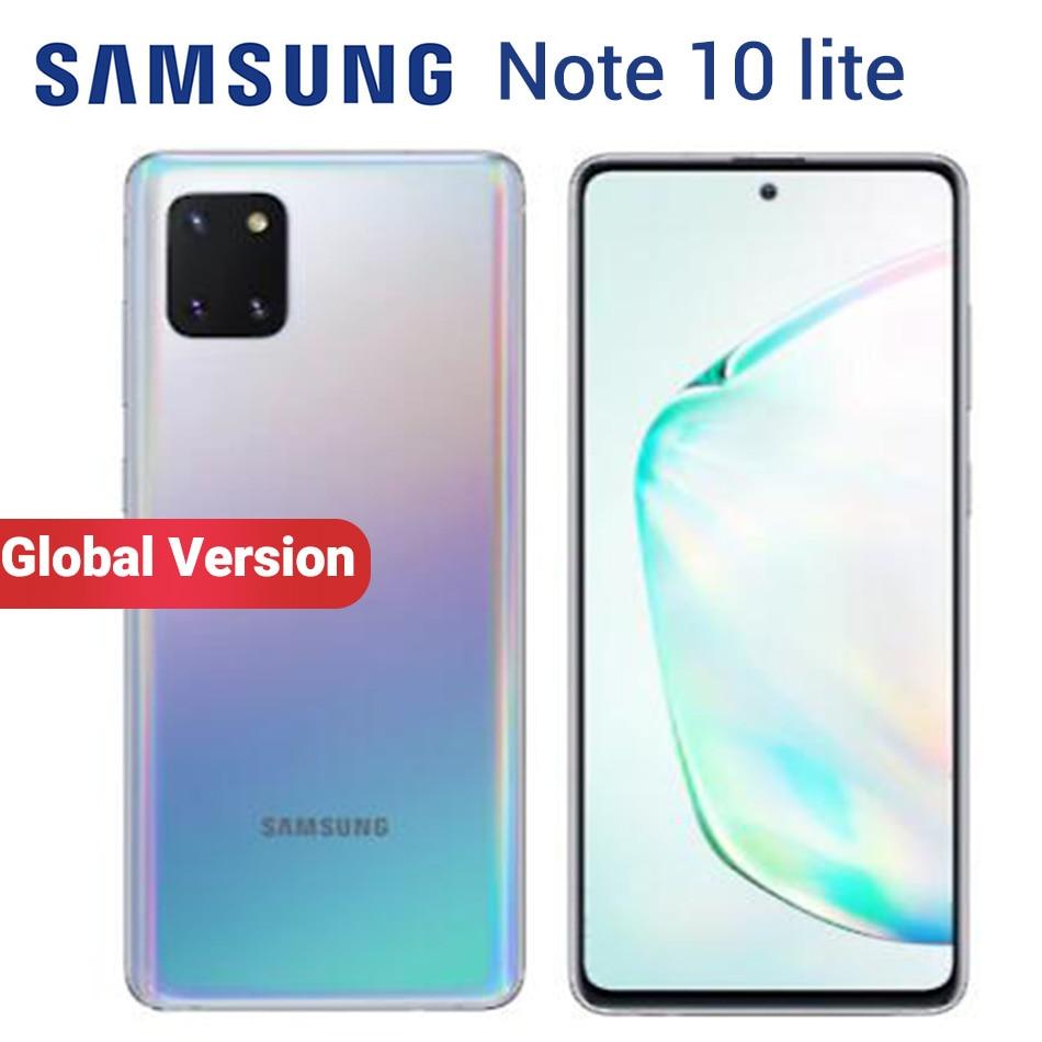 """Versão global samsung galaxy note 10 lite n770f/ds 8 gb 128 gb telefone móvel 6.7 """"exynos 9810 frente 32mp duplo sim nfc smartphone"""