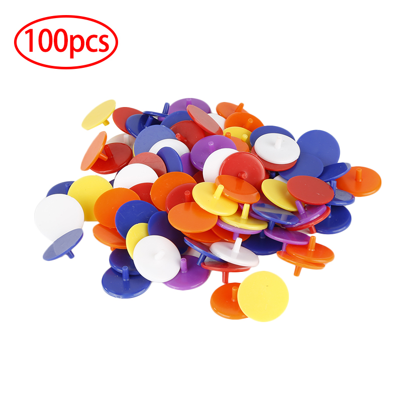 100PCS Transparent Plastic Golf Ball Mark Position Markers Round Shaped Golf Training Aids Golfer Accessories Random Color 2020