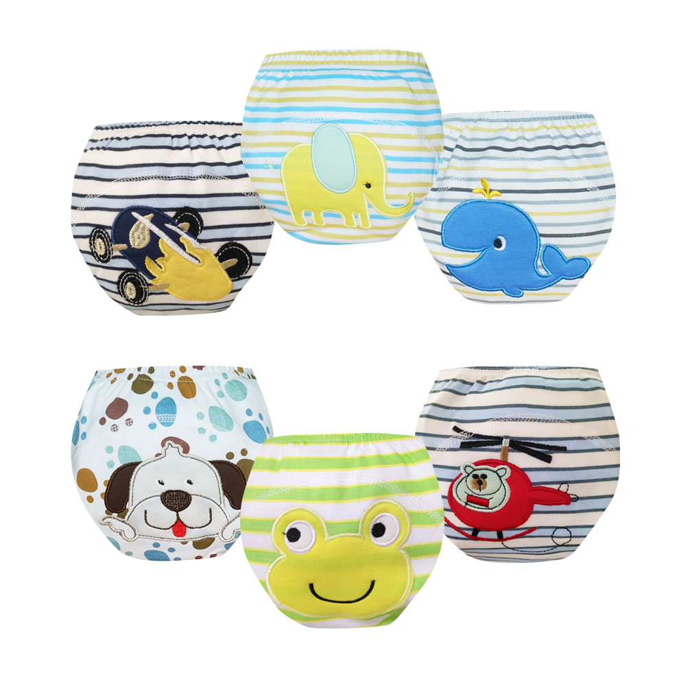 Whosale 30pcs Baby Cloth Training Pants Kids Underwear Cloth Diaper Nappies Baby Waterproof Potty Training Panties Free Shipping
