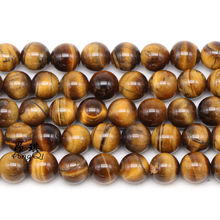 Natural Tiger Eye Beads Yellow Tiger Eye Stone Round Loose Beads For Jewelry Making 16 Men Bracelet 3-14mm Small Beads 14mm precious natural blue kyanite gems stone cat eye big round crystal beads jewelry powerful stretch men bracelet