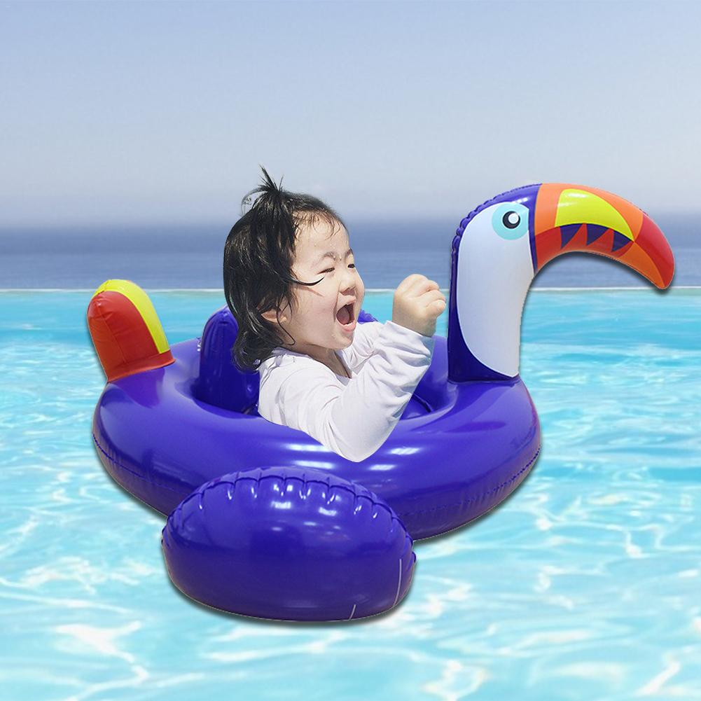 Summer Baby Purple Flamingo Swimming Ring Inflatable Swan Swim Float Water Fun Pool Toys Swim Ring Seat Boat Kid Swimming