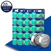 20 pces para sony 1.55 v ag4 377a 377 lr66 lr626 sr626sw sr66 ag4 ag 4 baterias de botão para brinquedos de relógio bateria remota da moeda da pilha|Bateria de célula de botão| |  -