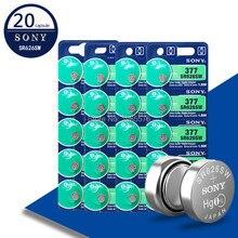 Baterias botão para Sony, 4 baterias para sony 1,55V AG4 377A 377 LR66 LR626 SR626SW SR66, relõgio, brinquedos, bateria remota de moedas, 20 peças