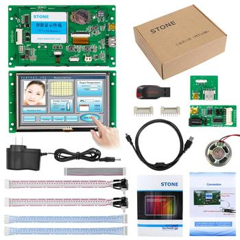 Embedded Resistive HMI Touch Panel 5 inch LCD Module with Software + Program for Industrial Use