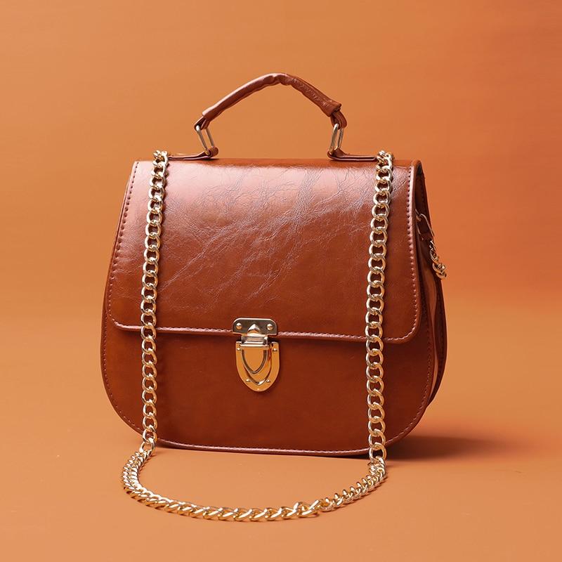 Soft Leather Big Shoulder Messenger Bags For Women 2020 Chain Rivet Lock Crossbody Bags PU Leather Handbags Female Travel Bags