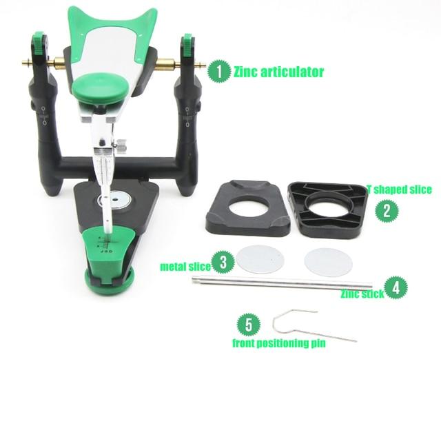 1 set Dental lab functional zinc alloy articulator  model bite articulator fiting face bow for stone model work