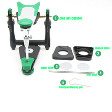 1 set Dental lab functionele zinklegering articulator model bite articulator fiting gezicht boog voor stone model werk