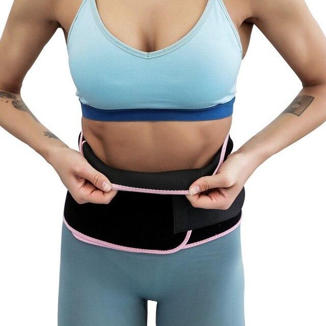 Gym Training sweat belt Weight Loss Burn Exercise Sweat belt PE bag Women Slimming Fitness Waist Belts durable 1