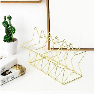Image 5 - Estante de metal livros suporte estande organizador de mesa armazenamento titular criativo estilo arquivo titular l29k