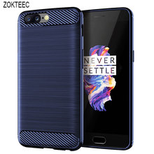 ZOKTEEC High quality luxury Silicone Case For OnePlus 5 5T 6 6T 7 7T ShockProof Fitted Carbon Fiber Soft TPU Phone Cover