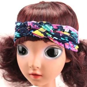 Повязки на голову с бантиком для маленьких девочек; ручная работа; хлопковая повязка на голову с перекрестными узелками в богемном стиле; модные аксессуары для волос для маленьких девочек и мальчиков