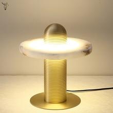 Nordic Minimalist Marble Table Lamp Personality Led Beside Lamp for Bed Room Living Room Art Desk Light Modern Lighting Fixtures