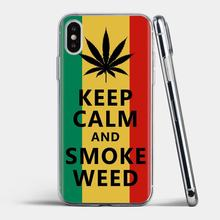 Soft TPU COVER Reggae Jamaica ใบวัชพืชสำหรับ Samsung Galaxy S6 S10E S10 EDGE Lite PLUS CORE Grand PRIME Alpha j1 MINI(China)