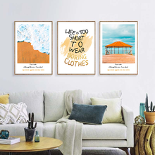 Wall Art Canvas Painting Picture Modern Seascape Landscape Quote Letter Print Poster Decor