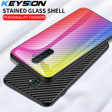 KEYSION Tempered Glass Case for OPPO Rea