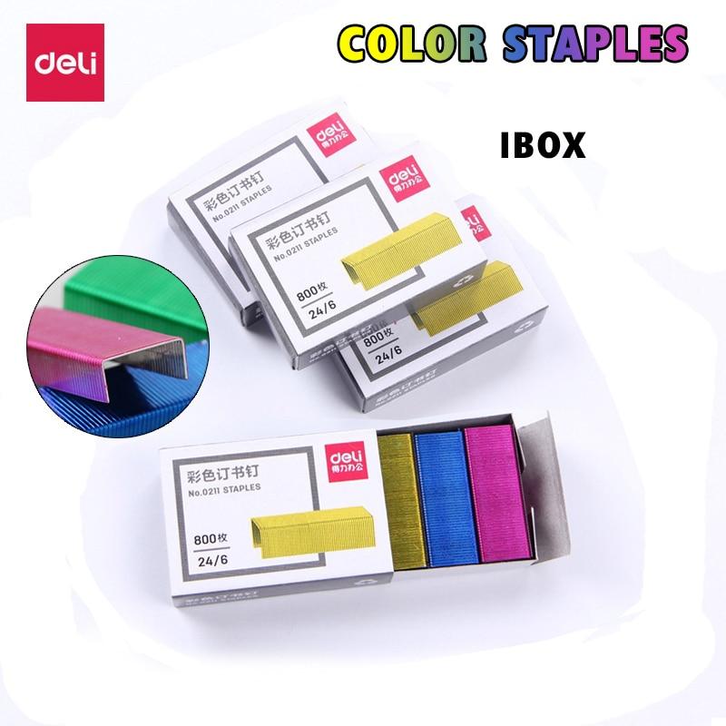 Effective 0211 Color Staples 10box 24/6 Uniform Nail 12 # Binding Staple Color Stapler Needle File Document Data Binding