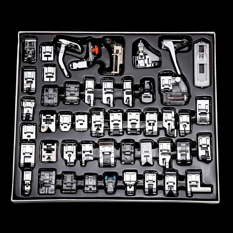 лапки для швейных машин 11/32/48/52/62 шт Швейные расходные материалы для машин лапка ноги для швейных машин ноги комплект набор с коробкой для ...