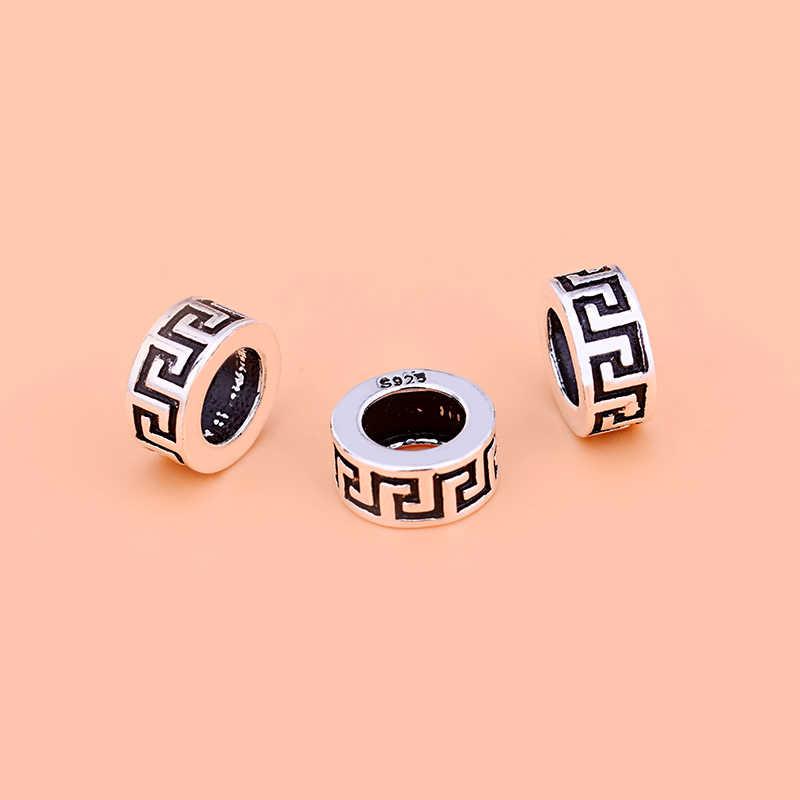925 Sterling Perline Argento Thai, di Nuovo Modello Branelli Allentati Perline Piatte Accessori, Gioielli Fatti a Mano Materiali Accessori Dei Monili