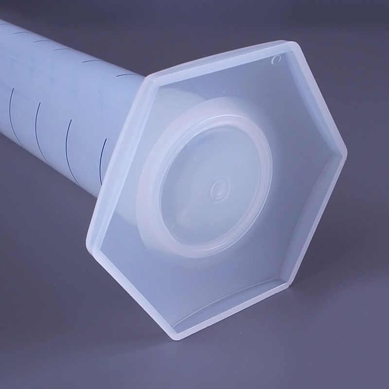 חדש 10/25/50/100/250/500ml פלסטיק מדידת צילינדר בוגר צילינדרים עבור מעבדה ציוד מעבדה כלים XSD88