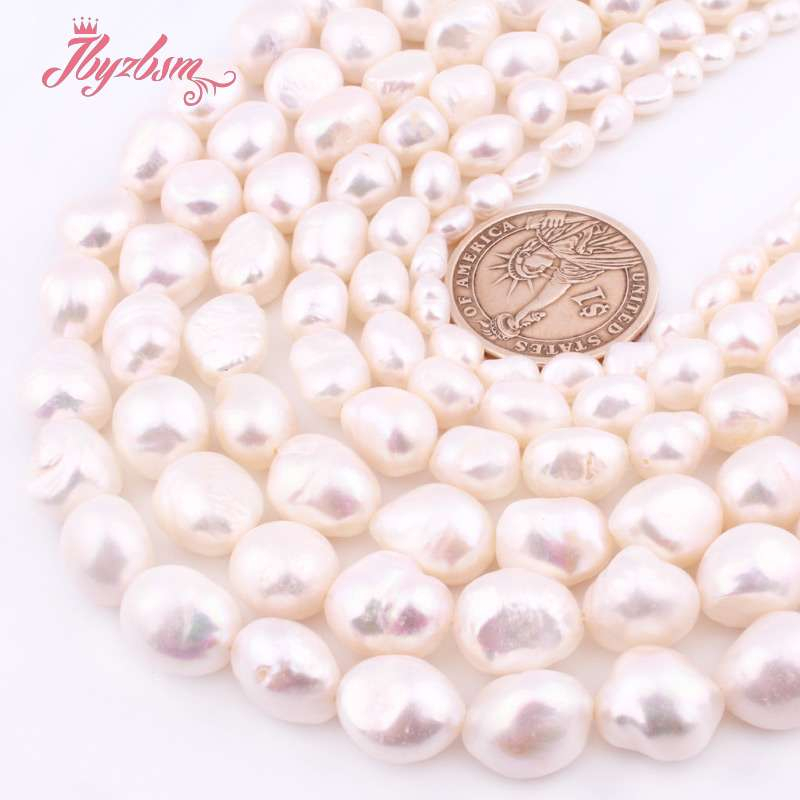 5-7/8-9/9-10/10-11mm White Potato Freshwater Pearl Loose Natural Stone Beads For Women DIY Jewelry Making Necklace Bracelet 15″
