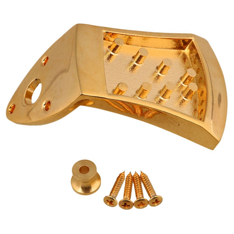 75 X 45 X 9 Mm Gold Triangle Mandolin Tailpiece Parts For 8 String Mandolin Guitar With Screws