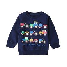 Осенняя детская одежда для девочек и мальчиков свитер с мультяшным