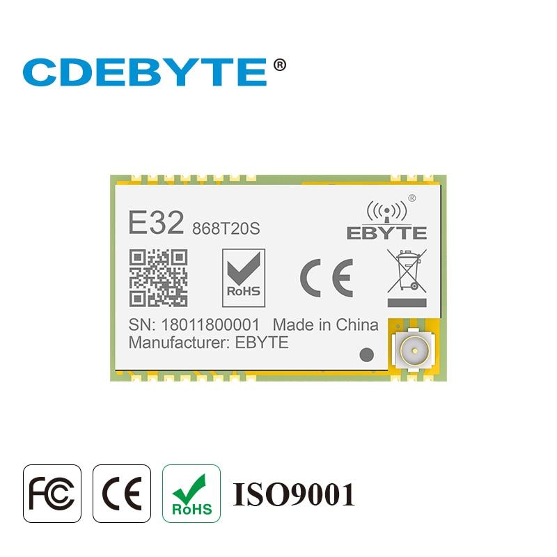 Ebyte E32-868T20S LoRa Module SX1276 SMD 868MHz 100mW UART Transceiver 3.3V TTL IPEX Stamp Hole Antenna Interface