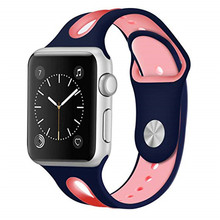Silicone Breathable Strap For Apple Watch 5 band 44/40mm 42/38mm Sports Bracelet bands Compatible iWatch Series4/3/2/1