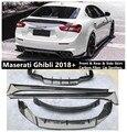 Передняя Задняя сторона юбка выступ Спойлеры для Maserati Ghibli 2018 2019 2020 бампер диффузор Высокое качество углеродного волокна спойлер
