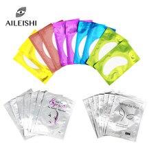 50/100 pares de extensão de cílios remendos de papel lint hidratante lash extensão travesseiro adesivo sob almofadas de olho cílios maquiagem ferramentas