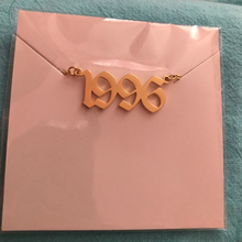 Old English Personalized Date Necklaces 1985 1986 1987 1988 1989 1990 1991 1992 Custom Birth Year Necklace Collier Femme цена и фото