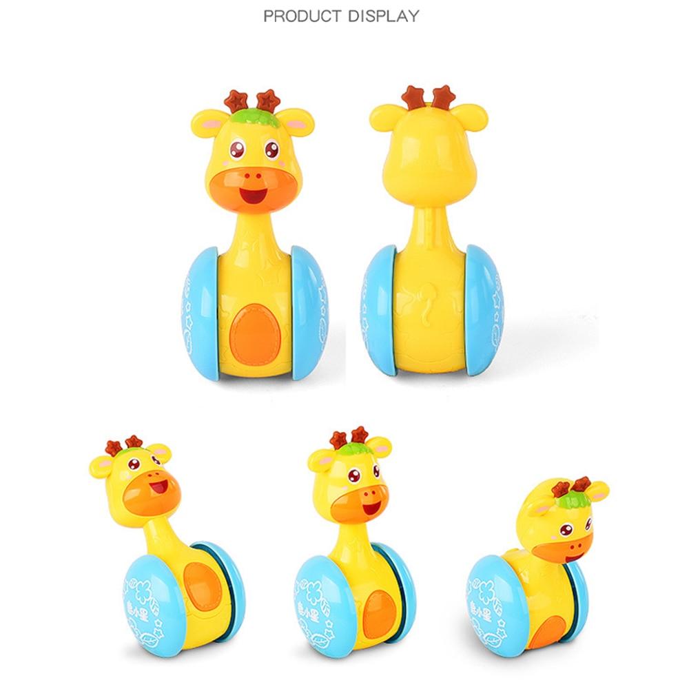 Baby rattles tumbler doll baby toys sweet bell music Roly-Poly - სათამაშოები ჩვილებისთვის - ფოტო 4