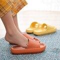 Indoor Bad Nicht-slip Hausschuhe Männer Frauen Komfortable Weiche Hause Schuhe Flache EVA Dicke Sohle Rutschen frauen Sandalen wasserdicht