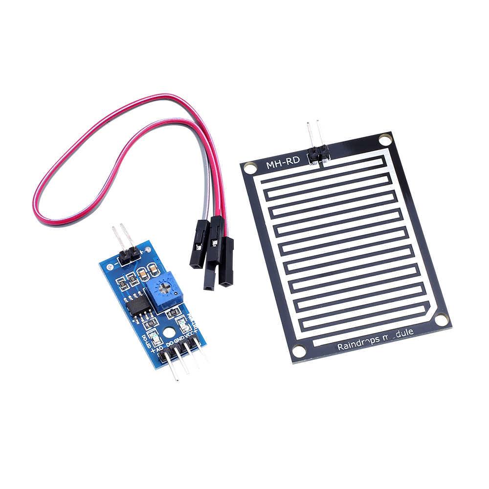 1 Set/lot Salju/Hujan Deteksi Sensor Modul Cuaca Hujan Modul Kelembaban UNTUK ARDUINO