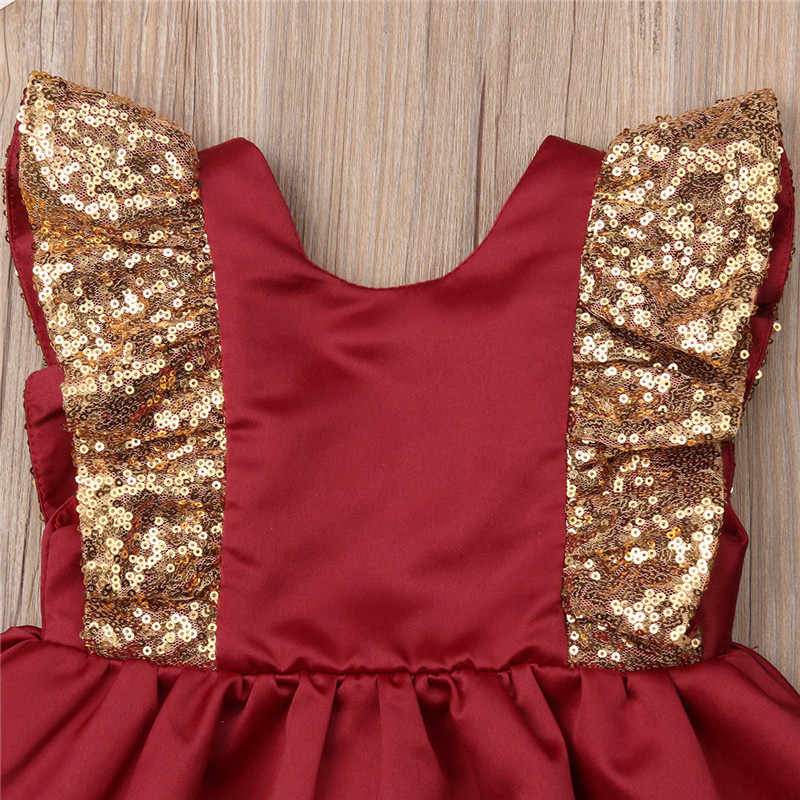 Baby Girl Frocks Summer 2019 Gown Girl Frocks Kids Girl Child Gown Prom Cartoon Polka Dot Bow Cartoon Little Teen Girls Clothing in Dresses from Mother Kids