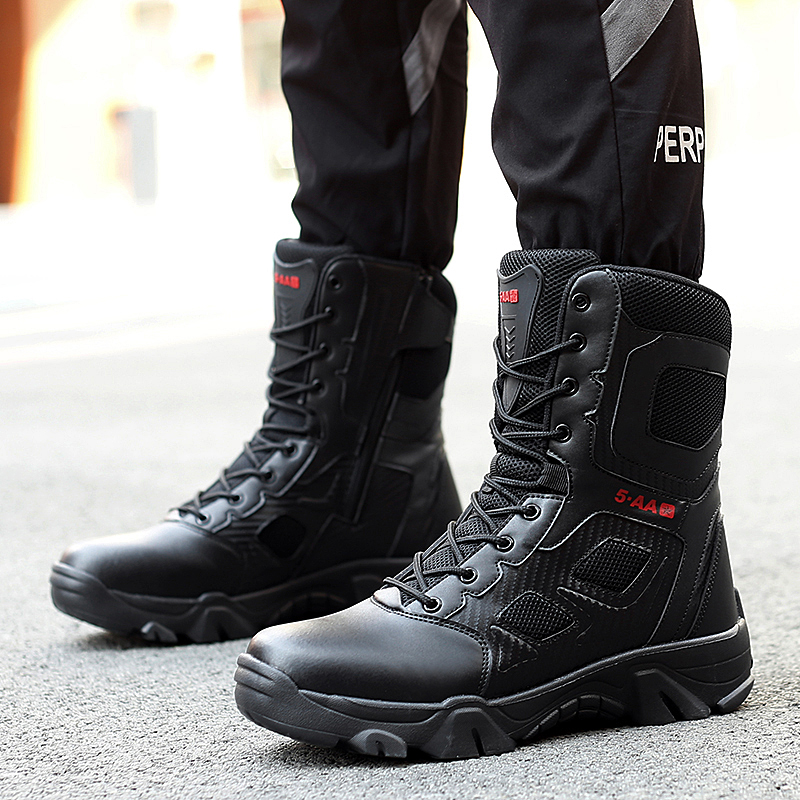 Size 39-47 Desert Tactical Mens Boots Wear-resisting Army Boots Men Waterproof Outdoor Hiking Men Combat Ankle Boots Clients First