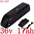 36В батарея 36В 17ач литиевая батарея 36В 10ач 13ач 14ач 250 Вт 350 Вт 500 Вт Электрический велосипед батарея использовать LG сотовый с 42 в 2A зарядное уст...