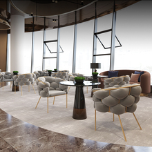 Living Room Furniture Luxury Reception Table And Chair Combination Office Leisure Coffee Table Chairs Marble Round Tables Nordic