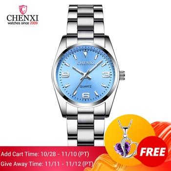 2020 CHENXI Brand Fashion Watches Women Luxury Stainless steel Wristwatches Analog Quartz Clock Watch Women's Relogio Feminino