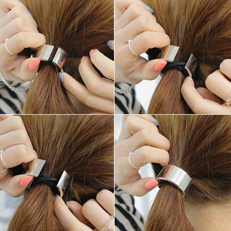 M Mism Shiny Scrunchy Simple Elastic Hair Bands Gum For Hair