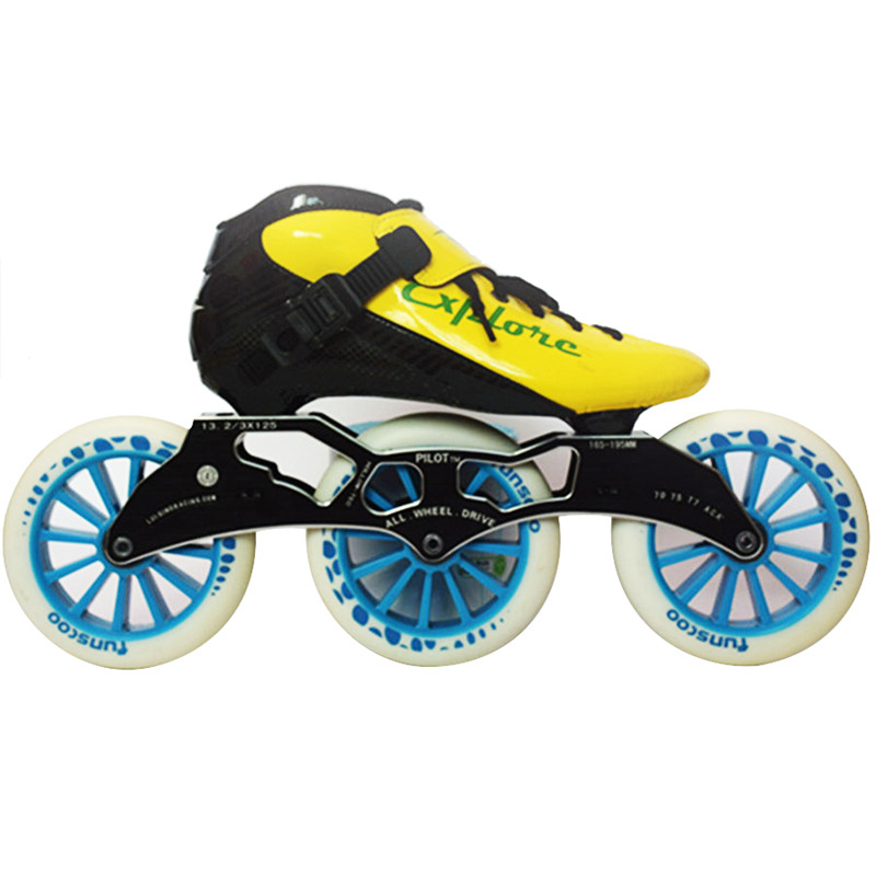Worth! Carbon Fiberglass Inline Speed Skates Kid Adult Beginner New Hand Speed Racing Train Street Racing Shoes JP Korea For CT